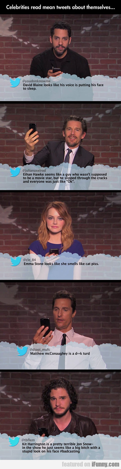 Celebrities Read Mean Tweets About Themselves...