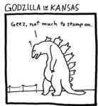 Godzilla In Kansas. Geez Not Much To Stomp