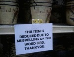 This Item Is Reduced Due To The Misspelling...