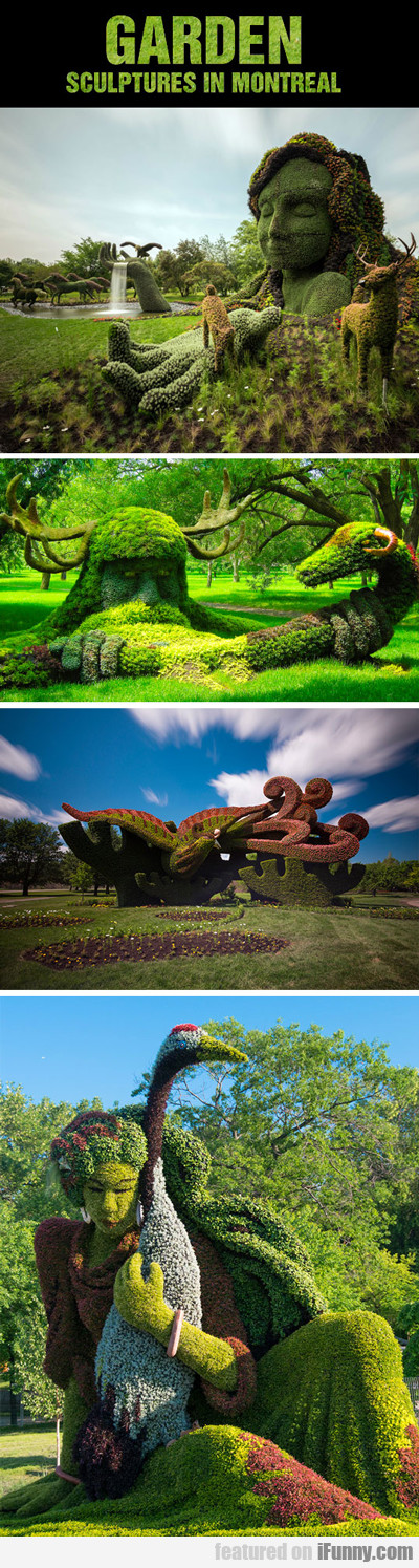Garden Sculptures In Montreal...