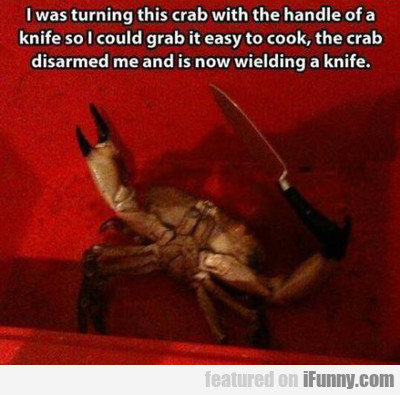 I Was Turning This Crab...