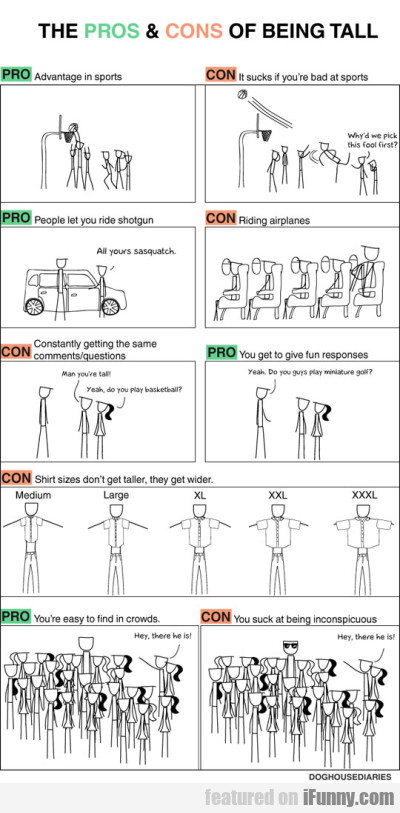 The Pros & Cons Of Being Tall