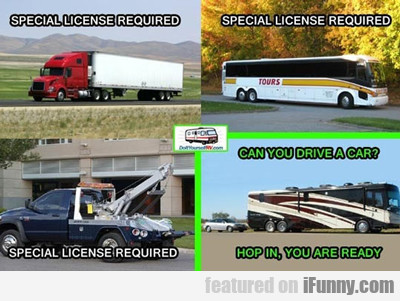 Special License Required...
