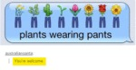 Plants Wearing Pants. You're Welcome.