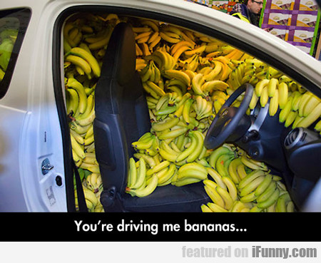 You're Driving Me Bananas...