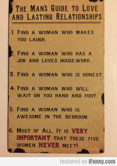 The Man's Guide To Love And...