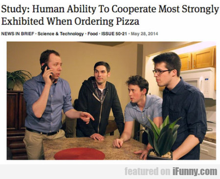 Study - Human Ability To Cooperate Most Strongly..