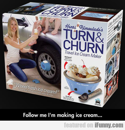 Follow Me, I'm Making Ice Cream...