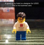 A Guest At My Hotel Is A Designer For Lego...
