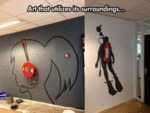 Art That Utilizes Its Surroundings...