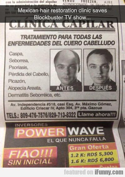 Mexican Hair Restoration Clinic...