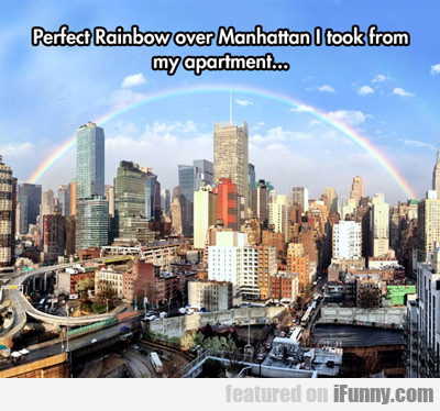 Perfect Rainbow Over Manhattan... | iFunny.com