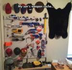 My Son's Weapon Cache...