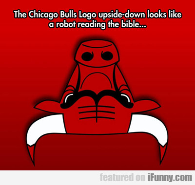 The Chicago Bulls Logo Upside Down...