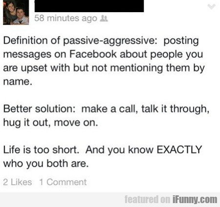 Definition Of Passive-aggresive