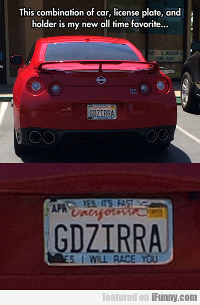 The Combination Of Car, License Plate And...