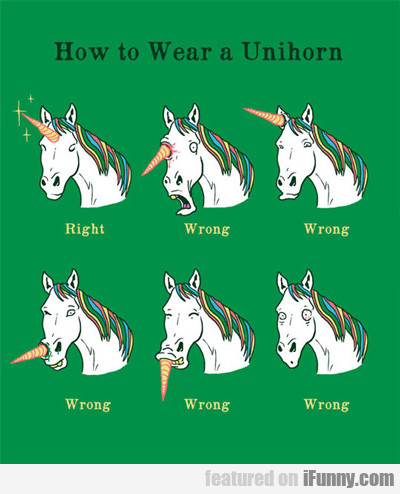 How To Wear A Unihorn...