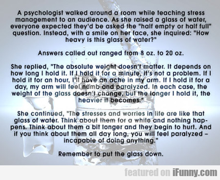 A Psychologist Walked Around A Room...