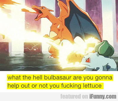 What The Hell Bulbasaur, Are You Gonna Help...