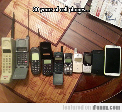 30 years of cell phones...
