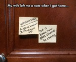 My Wife Left Me A Note...