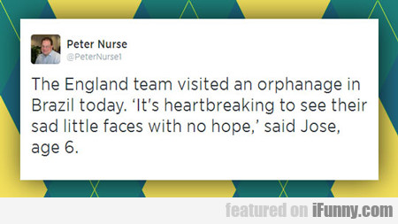 The England Team Visited An Orphanage...