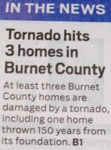 In The News - Tornado Hits 3 Homes In Burnet...