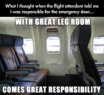 What I Thought When The Flight Attendant...