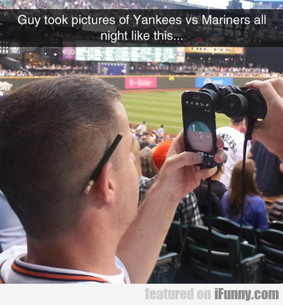 Guy Took Pictures Of Yankees...