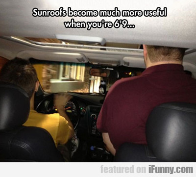 Sunroofs Become Much More Useful...
