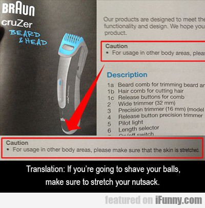 If You're Going To Shave Your Balls...