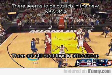 There Seems To Be A Glitch In The New Nba 2k14...