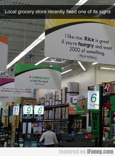 Local Grocery Store Recently Fixed One Of Its...