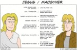 Jesus / Macgyver - Long Blonde Hair...