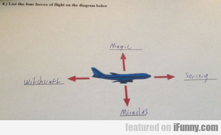 List The Four Forces Of Flight On The Diagram...