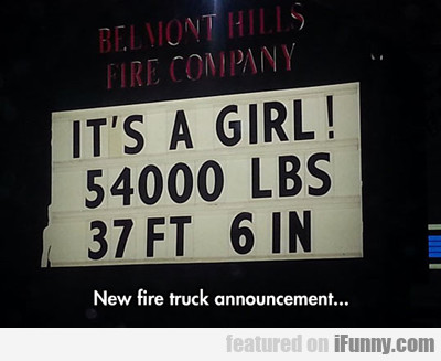 New Fire Truck Announcement...