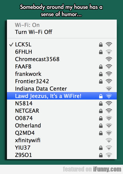 Somebody Around My House Has A Sense Of...
