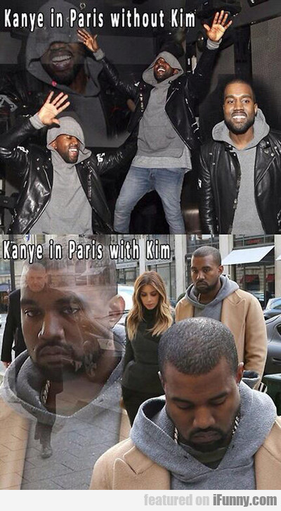 Kanye In Paris Without Kim...
