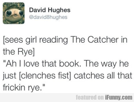 Sees Girl Reading The Catcher In The Rye...