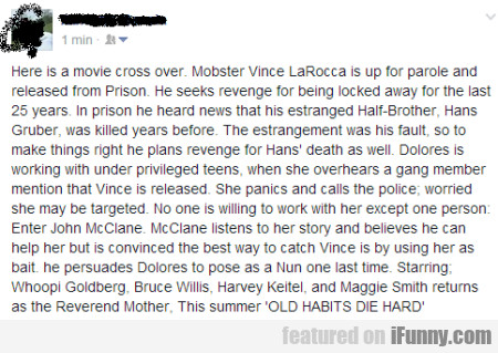 Here Is A Movie Cross Over. Mobster Vince...