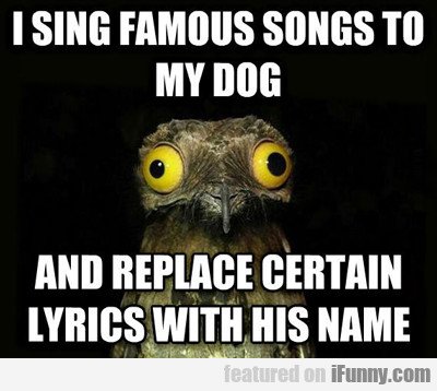 I Sing Famous Songs To My Dog...