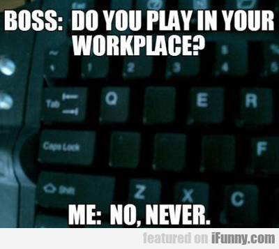 Boss: Do You Play In Your Workplace?