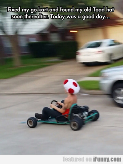 Fixed My Go Kart...