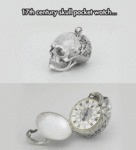 17th Century Skull Pocket Watch...