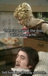 There's A Man At The Door With A Moustache...