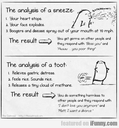 The analysis of a sneeze - your heart...