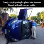 Elderly Couple Posing For Photo...