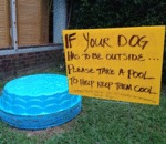 If Your Dog Has To Be Outside...