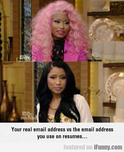 Your Real Email Address Vs The Email Address...
