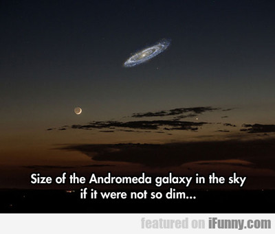Size Of The Andromeda Galaxy In The Sky...